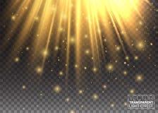 Efeito da luz Luzes douradas Aumente seu olhar do trabalho do projeto moderno Brilha de cima de Alargamento abstrato da imagem mo ilustração do vetor
