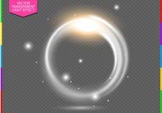 Efeito da luz transparente do alargamento circular da lente Beira abstrata da elipse Transparência no formato adicional somente ilustração do vetor