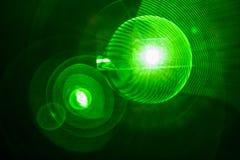Efeito da luz verde do bulbo fotografia de stock