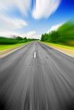 Efeito da velocidade na estrada Foto de Stock