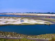 Efeito das alterações climáticas em uma represa bengali Imagem de Stock
