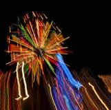 Efeito das luzes das luzes de Natal imagens de stock royalty free