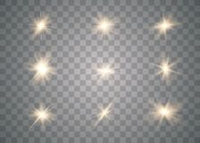 Efeito das luzes de incandescência do ouro ilustração do vetor