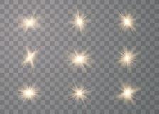 Efeito das luzes de incandesc?ncia ilustração do vetor