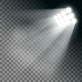 Efeito das luzes do estádio em um fundo transparente Imagem de Stock Royalty Free