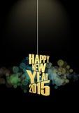 Efeito das luzes do texto do ano novo 2015 Fotos de Stock