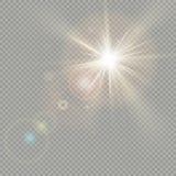 Efeito de círculos do bokeh com brilho do sol Efeito do alargamento da lente Eps 10 ilustração do vetor