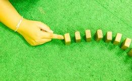 Efeito de dominó Fotografia de Stock Royalty Free