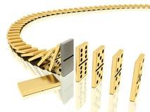 Efeito de dominós parado Fotografia de Stock