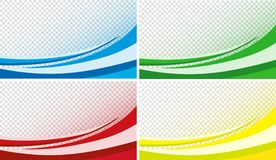 Efeito de fundo curvado em vermelho, em azul, em verde e em amarelo ilustração stock