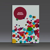 Efeito digital do círculo do fundo colorido abstrato Fotos de Stock Royalty Free