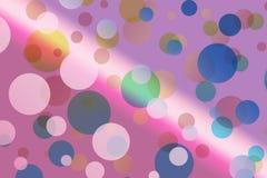 Efeito do bokeh de Beautifull: cor-de-rosa ilustração do vetor