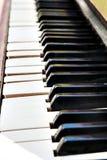 Efeito do borrão da perspectiva do close-up dos botões do piano Imagem de Stock Royalty Free