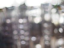 Efeito do borrão de vidros vazios Fotos de Stock