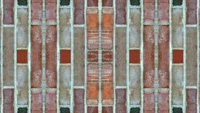 Efeito do espelho em uma parede de tijolo imagem de stock