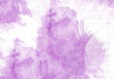 Efeito do gráfico do curso da escova da cor de água Imagens de Stock