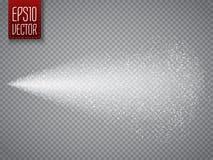 Efeito do vetor do pulverizador no fundo transparente Foto de Stock
