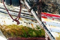 Efeito gráfico em cascas dos barcos foto de stock