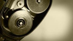 Efeito velho do filme do mecanismo da câmera de filme do vintage video estoque