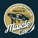 Efeito velho do grunge do carro americano do músculo Imagens de Stock