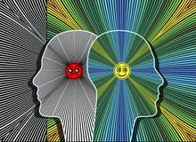 Efeitos da atitude positiva ilustração stock