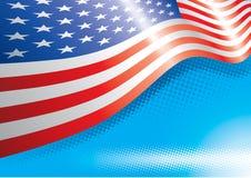 Efeitos da bandeira e da reticulação dos E.U. Fotos de Stock