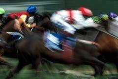 Efeitos da corrida de cavalos Imagens de Stock
