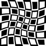 Efeitos da distorção em vários testes padrões Textu deformado geométrico ilustração royalty free