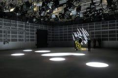 Efeitos da luz do estúdio da tevê. fotografia de stock royalty free