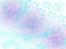 Efeitos de aumentação do borrão do fundo das estrelas Imagem de Stock
