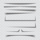 Efeitos de sombra de papel no fundo quadriculado transparente ilustração stock