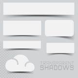 Efeitos de sombra do vetor Foto de Stock Royalty Free