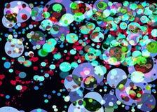 Efeitos do borrão do fundo dos círculos de Colorfull Imagem de Stock Royalty Free