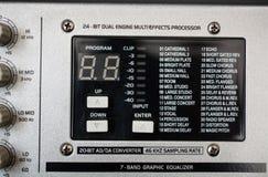 Efekta dźwiękowego procesoru panel Fotografia Stock