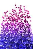 A efervescência stars os confetes isolados Imagem de Stock Royalty Free