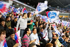 Efes Pilsen supporters Royalty Free Stock Photo