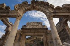 EFES/TURKEY罗马门在以弗所 库存照片