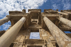 EFES/TURKEY - The facade of the Library in Eph Royalty Free Stock Photography