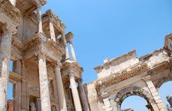 Efesus的摄氏图书馆在伊兹密尔,土耳其附近 图库摄影