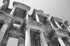 Efesus的摄氏图书馆在伊兹密尔,土耳其附近 免版税图库摄影