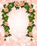 Efeu und Hibiscus-Party- oder Hochzeitseinladung Lizenzfreies Stockfoto
