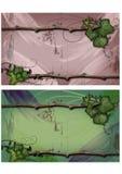 Efeu- und Zweigfahne Stockbild