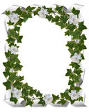 Efeurand mit Gardenias Lizenzfreie Stockfotografie