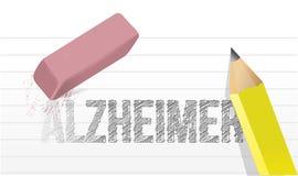 Effacement Alzheimer. rapportez la mémoire. Photos stock