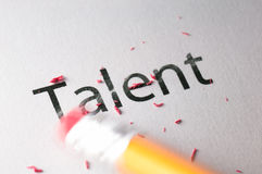 Effacement du talent Photos stock
