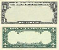 Effacez la configuration de billet de banque du 1 dollar Photographie stock