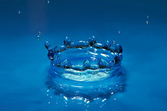 Effect blue water droplets Stock Images