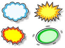 Effect bubbles. Vector illustration of four colorful effect bubbles Stock Photos