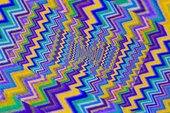 Effect droste of a wool fabric. Multicoloured texture of a wool fabric seem a vortex of colours Stock Photography