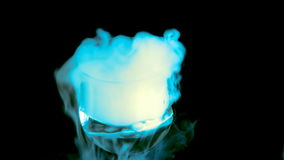 Effect of dry ice stock video